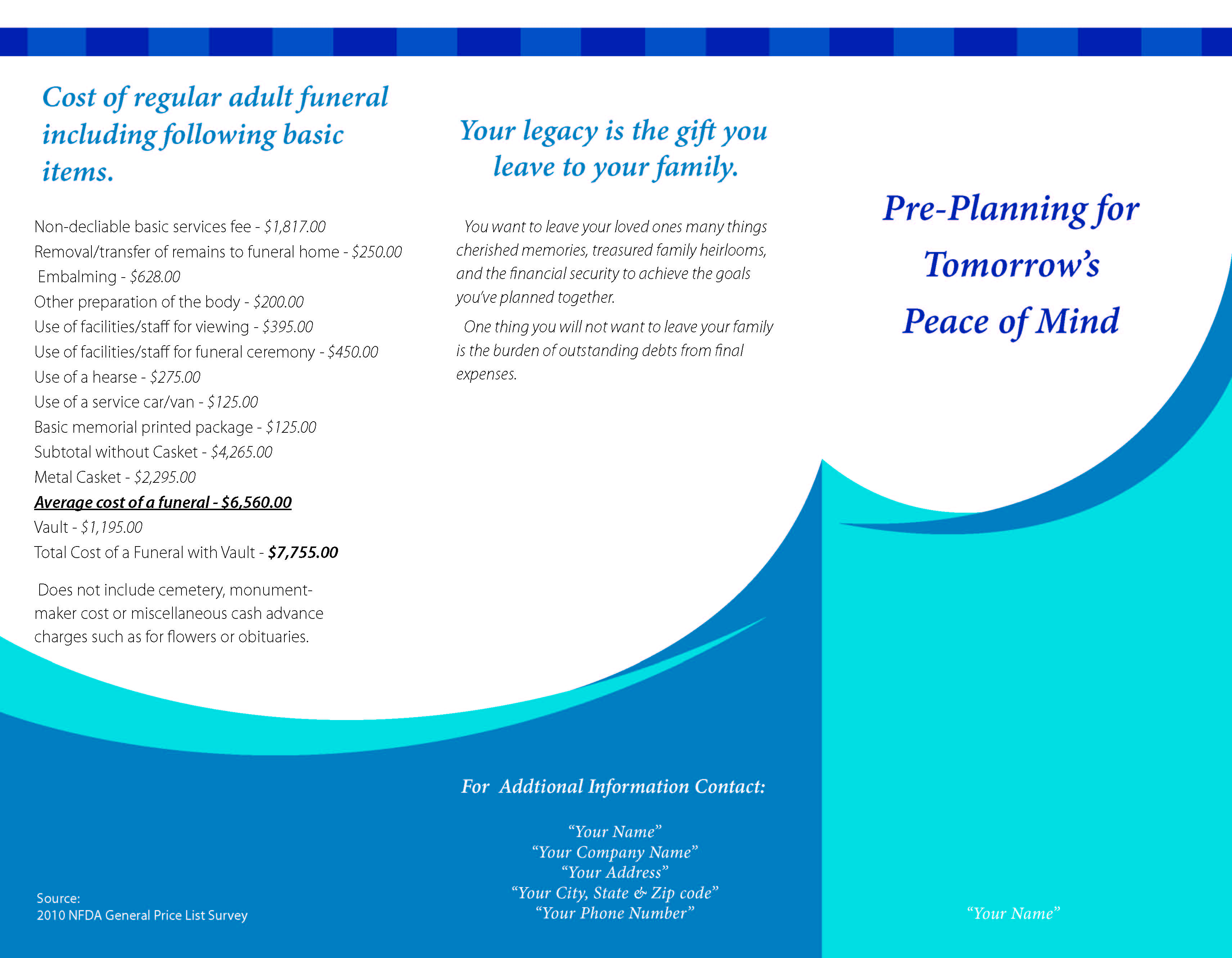 Final Expense Brochure page 1