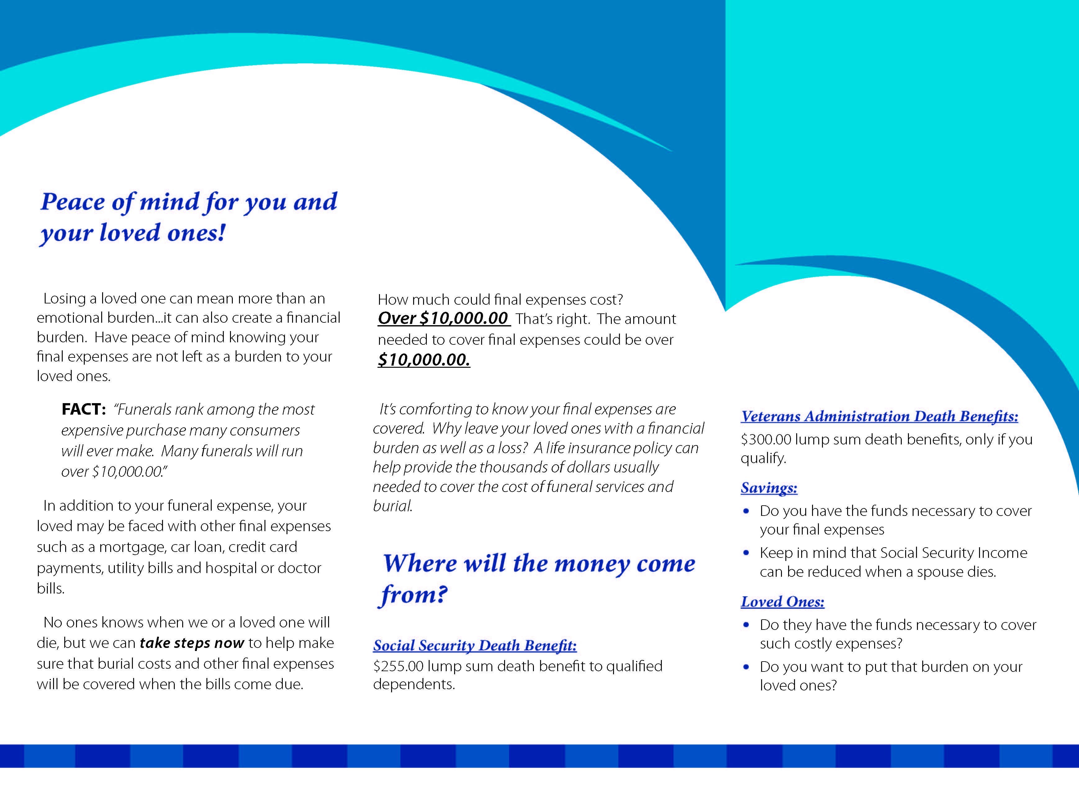 Final Expense Brochure Page 2